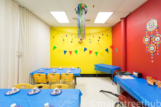 The Party Room is available for small gatherings and birthday parties.